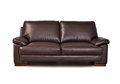 Brown leather sofa Royalty Free Stock Photo