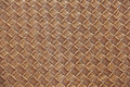Brown leather square woven weaved pattern close up Royalty Free Stock Photo