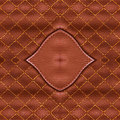 Brown leather suede with sewn seams background Stock Image