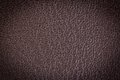 Brown leather texture with blue stitching for background Royalty Free Stock Photos