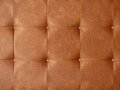 Brown leather upholstery texture Stock Photos