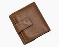 Brown leather wallet a folding Royalty Free Stock Images