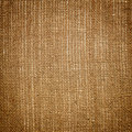 Brown linen canvas background with texture Stock Photography