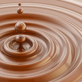 Brown liquid chocolate drop background Stock Photos