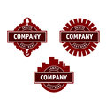 Brown logo construction real estate companies Stock Photo