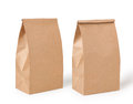 Brown lunch bag Stock Images