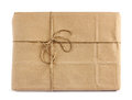 Brown mail delivery package parcel wrap Stock Photos