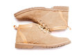 Brown man's fashion shoes isolated Royalty Free Stock Photo