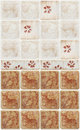 Brown marble tiles with floral decorations for kitchen Royalty Free Stock Image