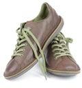 Brown Men Shoes Royalty Free Stock Photo