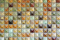 Brown mosaic tiles background Royalty Free Stock Photography