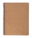 Brown notebook Royalty Free Stock Photo