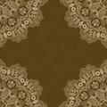 Brown One Color Abstract Background with Lacy Corner. Royalty Free Stock Photos