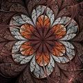 Brown And Orange Fractal Flower