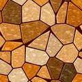 Brown orange marble irregular plastic stony mosaic seamless pattern texture background Royalty Free Stock Photo
