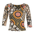 Brown ornament blouse Royalty Free Stock Photo