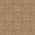 Brown Ornamental Seamless Line Pattern
