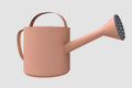Brown painted ewer flower watering tool Royalty Free Stock Photo