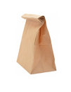 Brown paper bag isolated on white Royalty Free Stock Photos