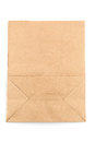 Brown paper bag on white background Stock Photos