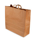 Brown paper bag on a white background Stock Images