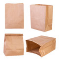 Brown paper bags isolated on white background Royalty Free Stock Photos