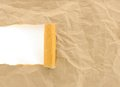 Brown paper crumpled torn with copy space for text Royalty Free Stock Photo
