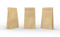 Brown paper lunch  bag isolated on white with clipping path Royalty Free Stock Photo