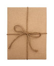 Brown paper package tied with string Royalty Free Stock Photo