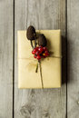 Brown paper packages tied up with string Royalty Free Stock Photo