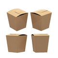 Brown paper taper square butterfly buckle biscuit box with clipp Royalty Free Stock Photo