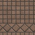 Brown pave slabs in the form of small squares and triangles seamless tileable texture Royalty Free Stock Photo