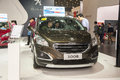 Brown peugeot car opened door new in the th zhengzhou dahe spring international auto show take from zhengzhou henan china Stock Image