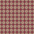 Brown pink folk hearts and flower seamless pattern Royalty Free Stock Image