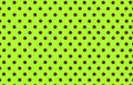 Brown polka dot with yellow green background Royalty Free Stock Photo