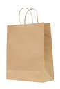 Brown recycled paper bag isolated on white background Royalty Free Stock Images