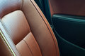 Brown red pefrorated leather Royalty Free Stock Photo