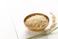 Brown rice with ear of rice Royalty Free Stock Photo