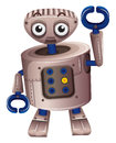 A brown robot illustration of on white background Royalty Free Stock Images