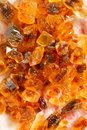 Brown rock candy large crystals of Royalty Free Stock Photo