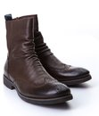 Brown roper boots pair of on white Royalty Free Stock Photography
