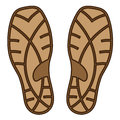 Brown rubber shoe sole illustration for the web Royalty Free Stock Photo