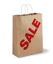 Brown sale paper bag Stock Photo