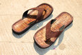 Brown sandals Royalty Free Stock Photo