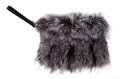 Gray Fur Purse Royalty Free Stock Photo