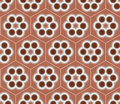 Brown Seamless Flower Pattern Background  Vector Design Royalty Free Stock Photo