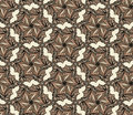 Brown seamless with hexagonal flowers abstract pattern Royalty Free Stock Photography