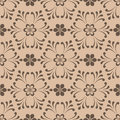 Brown seamless pattern. Floral abstract background