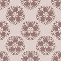 Brown seamless pattern. Floral abstract background for textile and fabric
