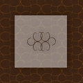 Brown Seamless Vector  Pattern Background Royalty Free Stock Photo